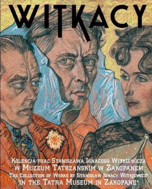 Album Witkacy,okładka w kolorze,przedstawia PORTRET ZBIOROWY, TADEUSZ LANGIER, WITKACY, BRONISŁAWA WŁODARSKA LITAUEROWA,