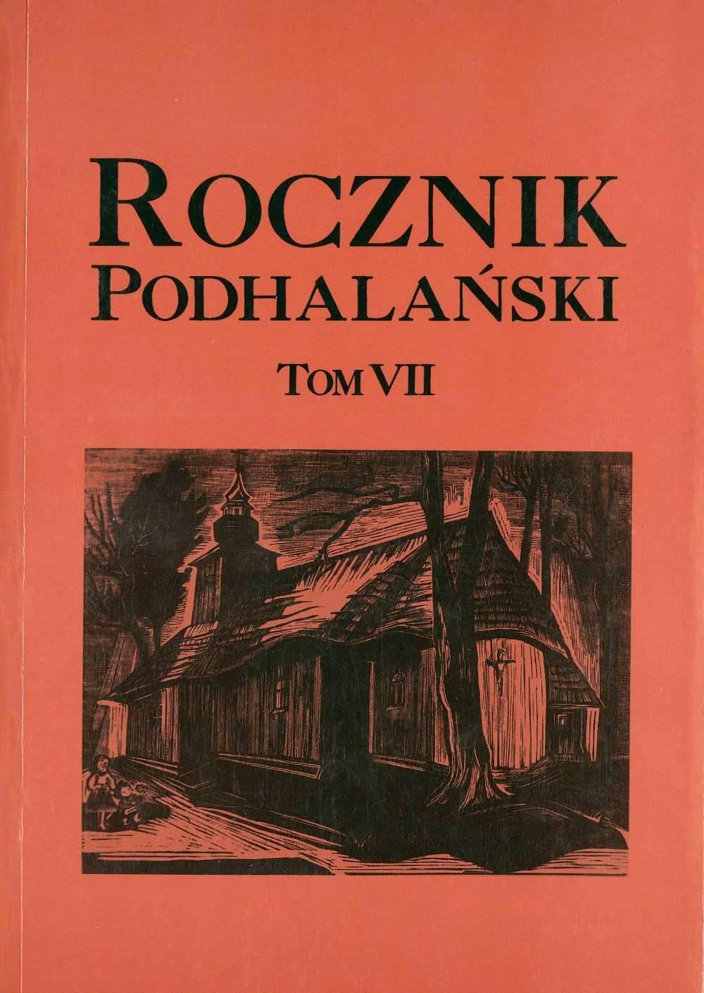 okładka - Rocznik Podhalański – tom VII