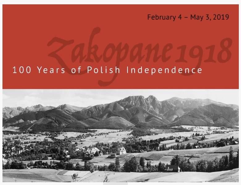 """WYSTAWA ZAGRANICZNA: """"100 YEARS OF POLISH INDEPENDENCE. ZAKOPANE 1918"""" (""""100 LAT POLSKIEJ NIEPODLEGŁOŚCI: ZAKOPANE 1918″)"""