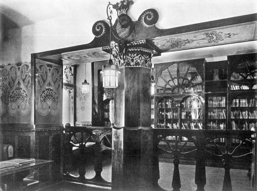 Biblioteka, rok 1910
