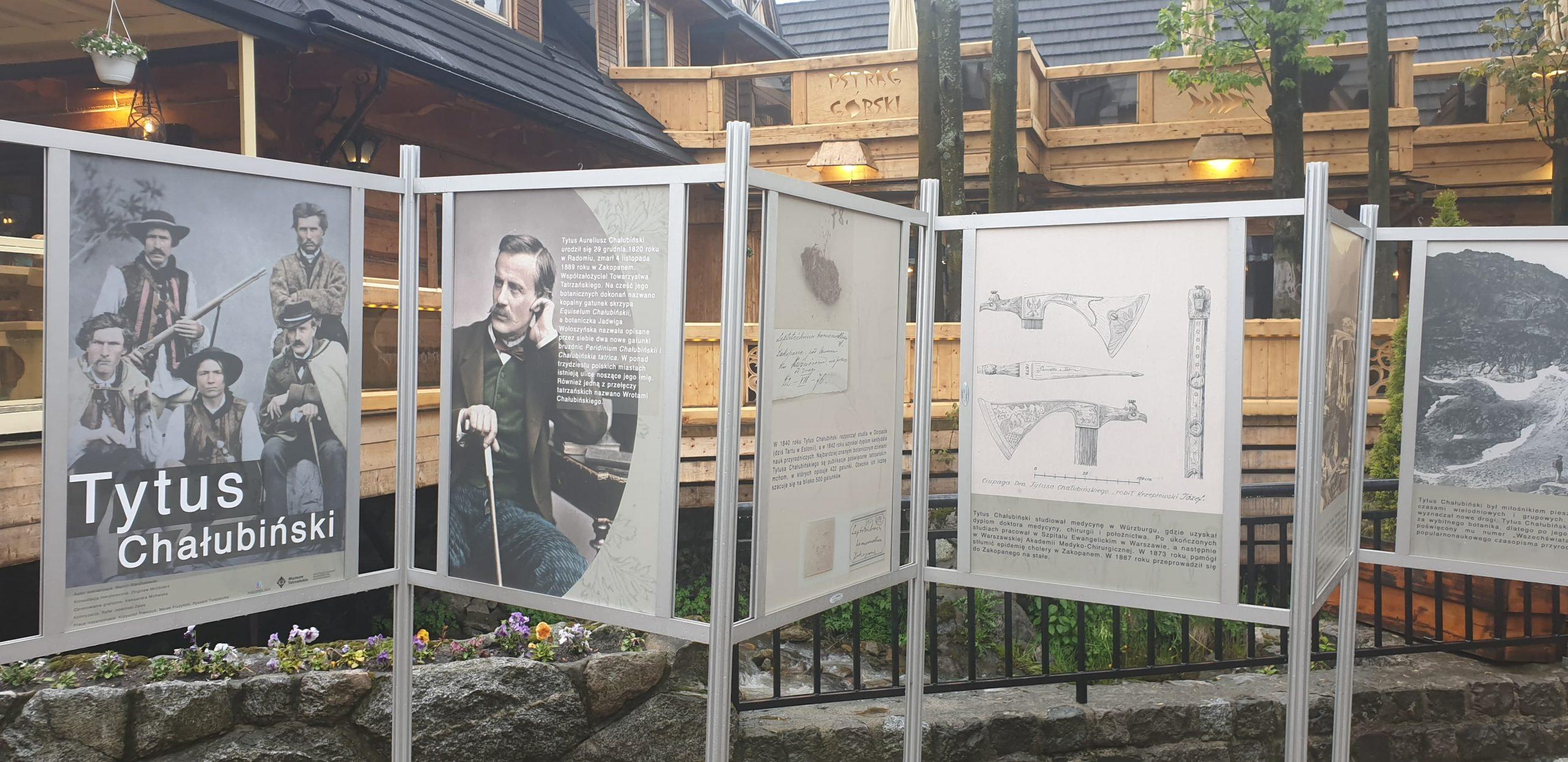 Zapraszamy do obejrzenia wystawy plenerowej  O Tytusie Chałubińskim