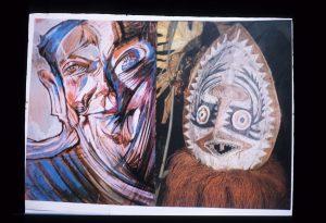 Notatnik Fotograficzny ze zbiorów Muzeum Tatrzańskiego - dwie abstrakcyjne postaci