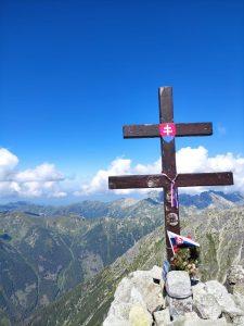 tzw. podwójny krzyż na szczycie Krywania