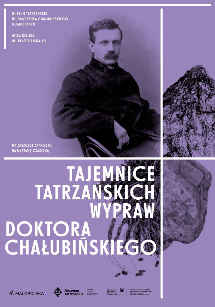 sylwetka dr Chałubińskiego na tle Tatr