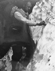 Stanisławski podczas wspinaczki