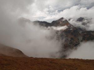 tatrzańskie Rohacze widok ogranicza mgła