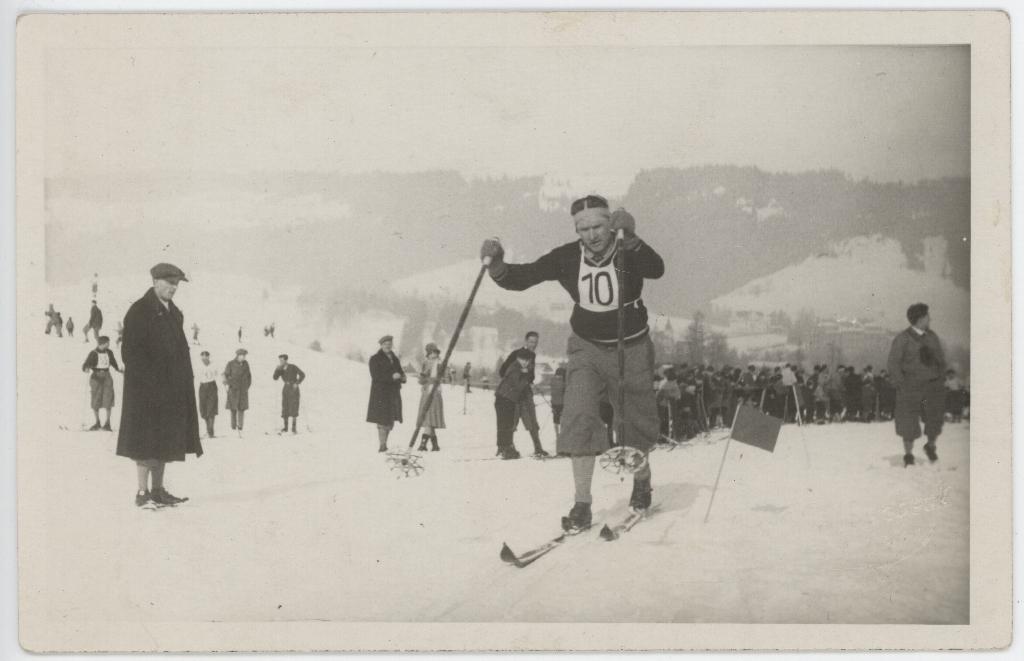 narciarze w Tatrach z okresu 20-lecia międzywojennego