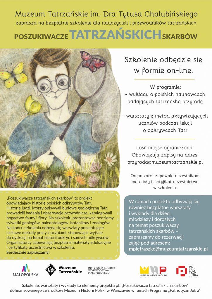 plakat akcji Muzeum Tatrzańskiego