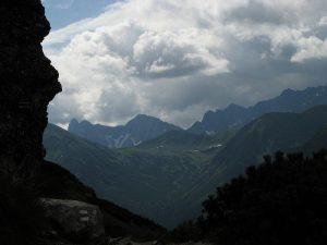 widok na tatrzańską panoramę