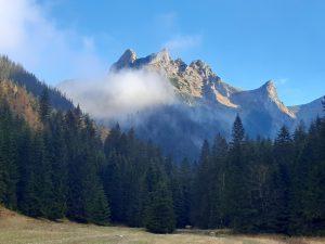 widok na tatrzański szczyt