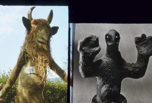 performatywne dwie rzeźby
