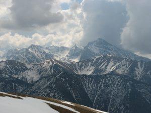 widom na zimową panoramę Tatr