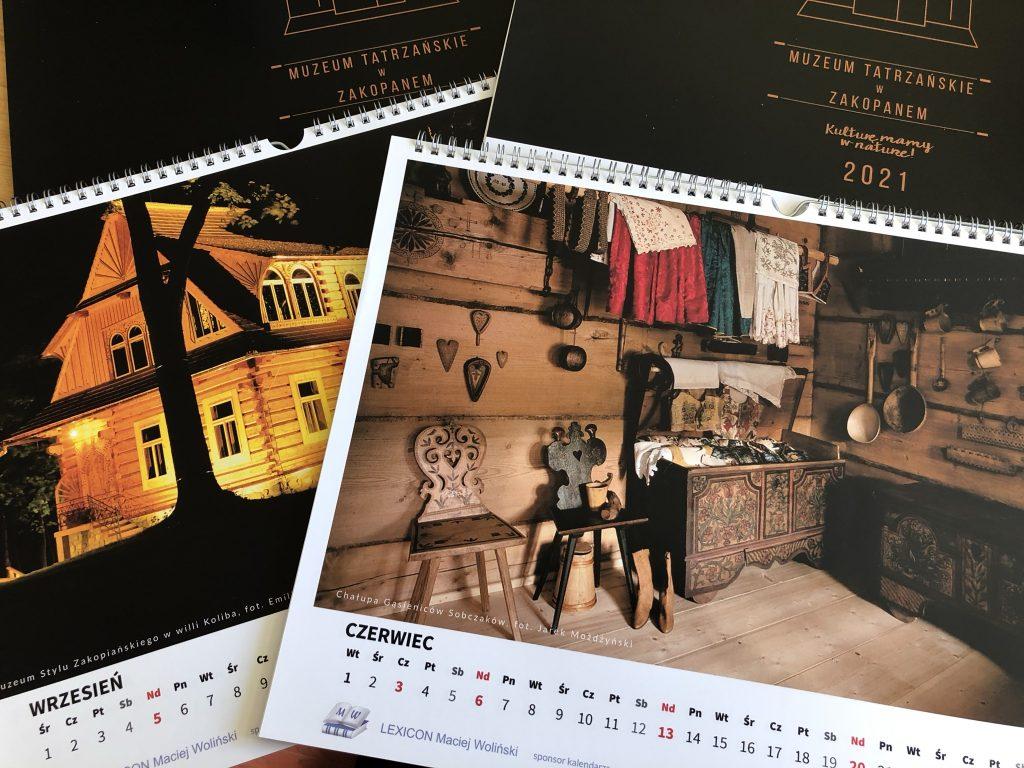 Kalendarz 2021 Muzeum Tatrzańskiego - przykładowe karty