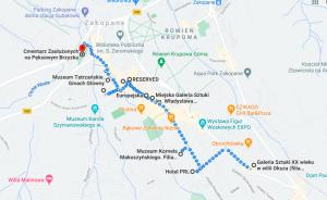 Mapa - trasa spaceru