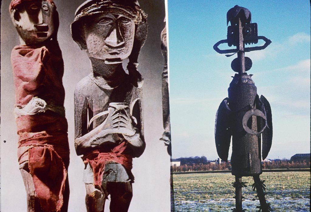 rzeźby nawiązujące do wystawy