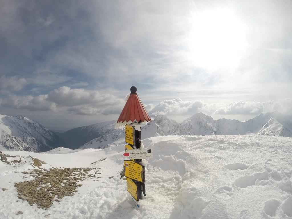 kierunkowskaz w zimowych Tatrach