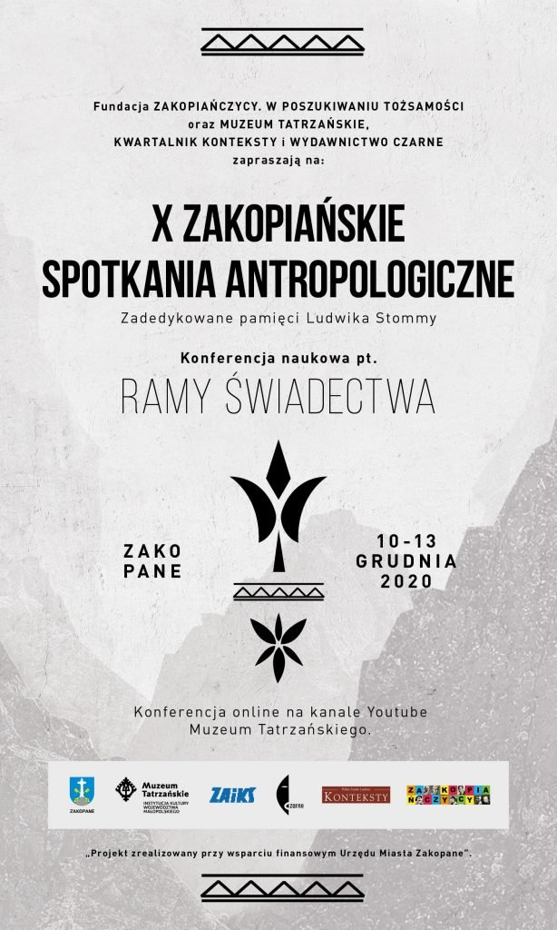 graficzne zaproszenie na imprezę Muzeum Tatrzańskiego