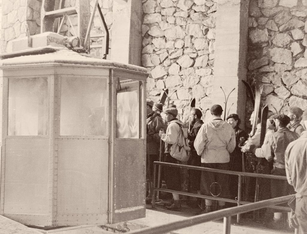 dawna, piefrwsza kolejka linowa na Kasprowy Wierch