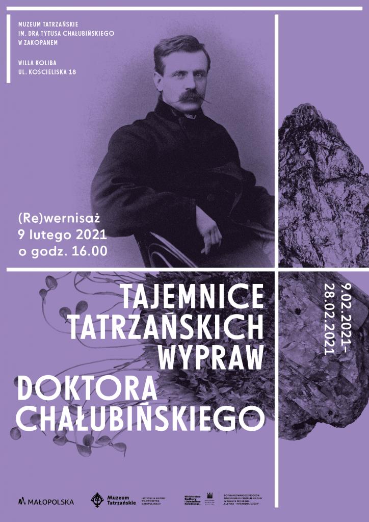 plakat wystawy o Tytusie Chałubińskim