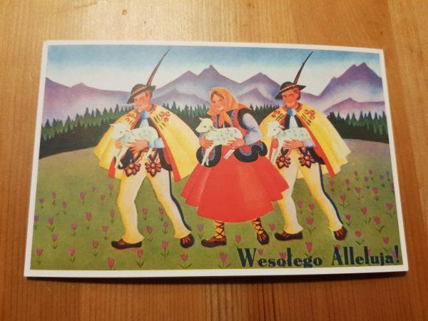 Pocztówka Wielkanocna - Wesołego Alleluja, projekt Wacław Boratyński,