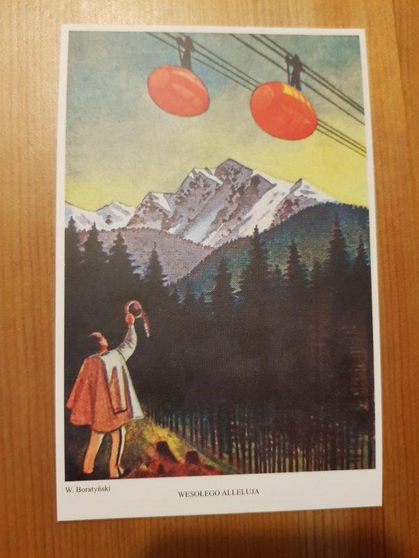 Pocztówka Wielkanocna - Wesołego Alleluja, projekt Wacław Boratyński, kolor