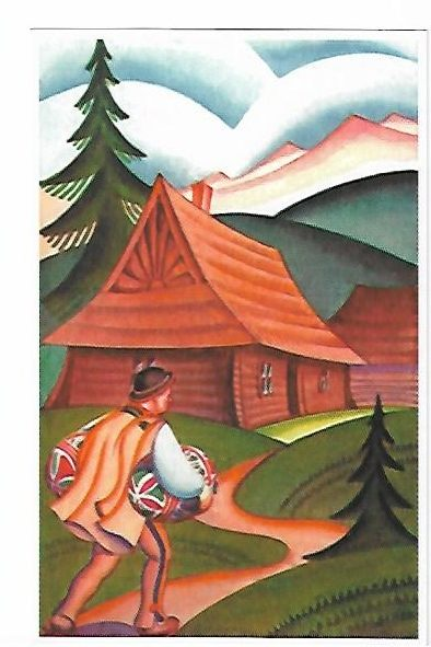 Pocztówka z góralem.