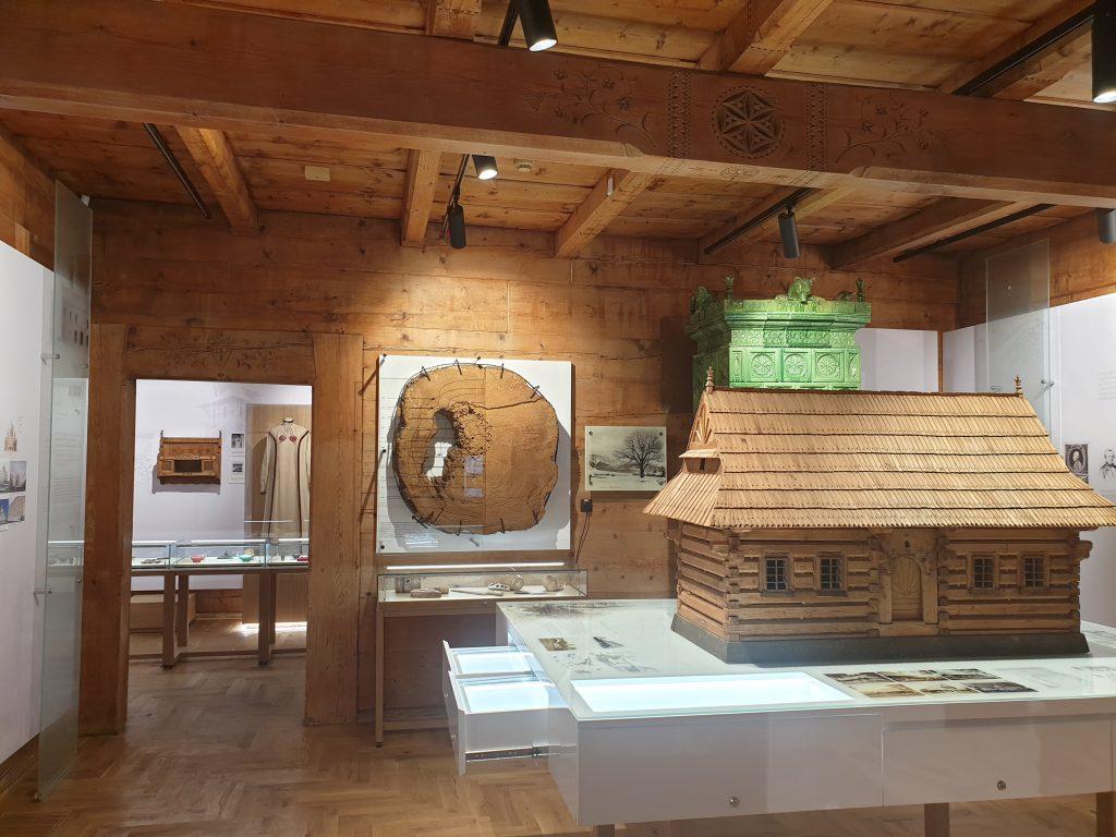 fragment nowej wystawy stałej w willi Koliba
