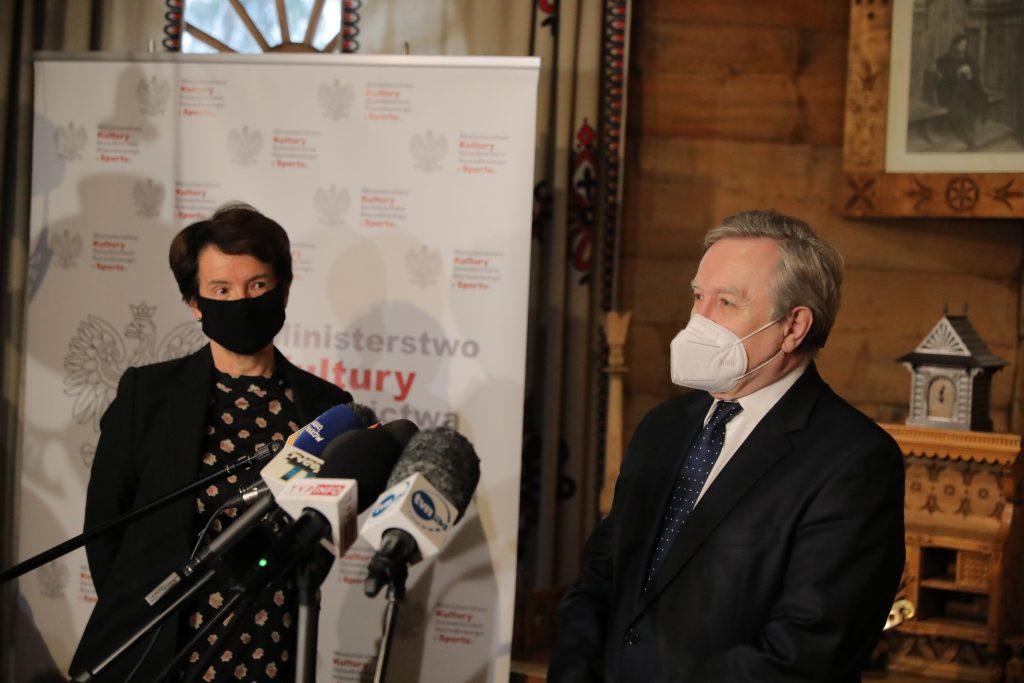 dyrektor Muzeum Tatrzańskiego oraz Minister Kultury w Kolibie