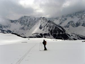 odpoczynek narciarza w Tatrach