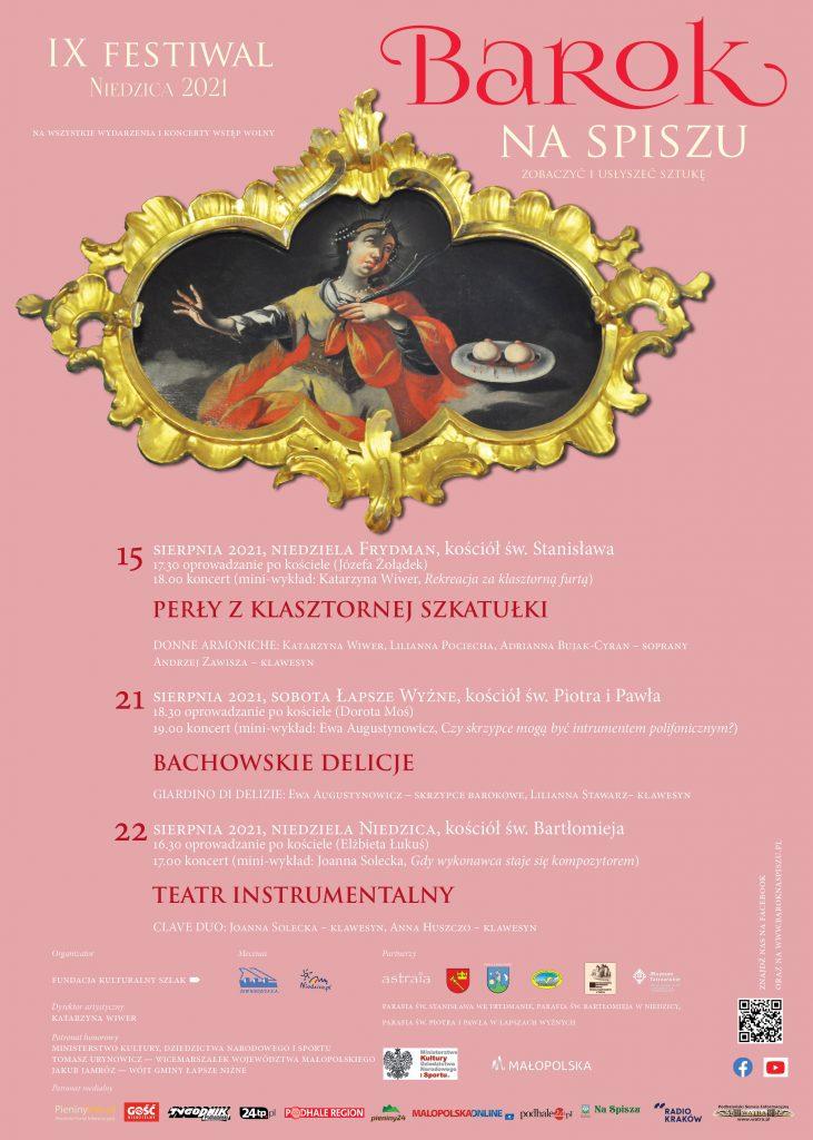 IX Festiwal, Niedzica 2021, Barok na Spiszu, Zobaczyć i usłyszeć sztukę