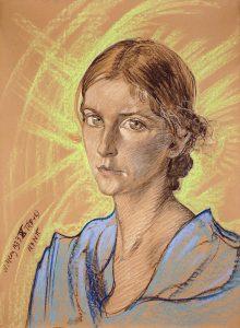 Obraz S. I. Witkiewicza, portret kobiety