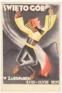 Pocztówka Święto Gór w Zakopanem, 4 sierpnia do 11 sierpnia 1935 roku