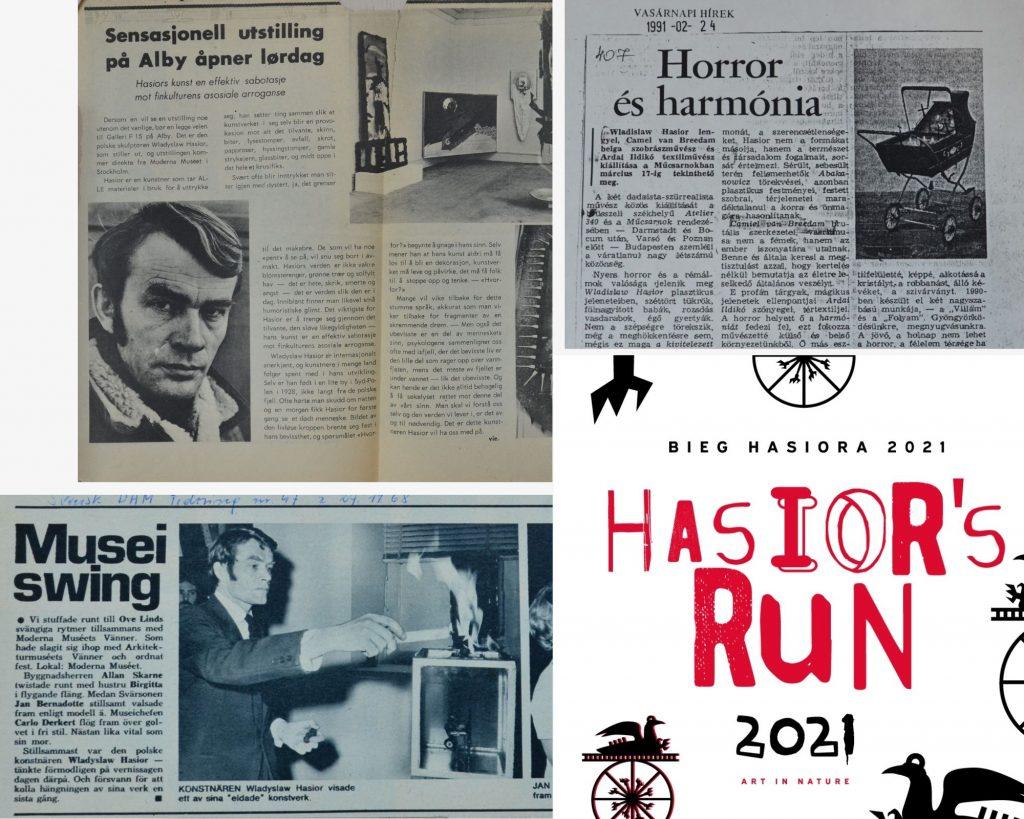 Bieg Hasiora 2021 Hasior's Run 2021, nagłówki i fragmenty zagranicznych gazet o Hasiorze