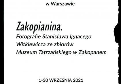 ZAKOPIANINA. Wystawa Muzeum Tatrzańskiego w Galerii Plenerowej Łazienek Królewskich